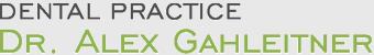 Dental Practice - Dr. Alex Gahleitner Logo